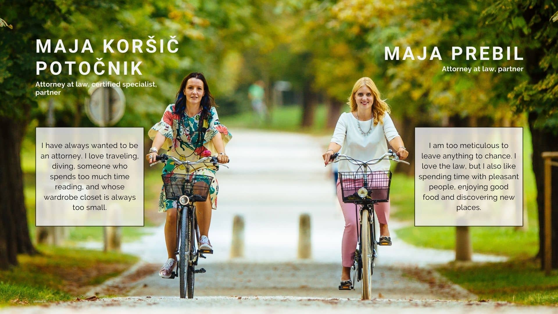 Maja K. Potočnik in Maja Prebil na kolesu_EN